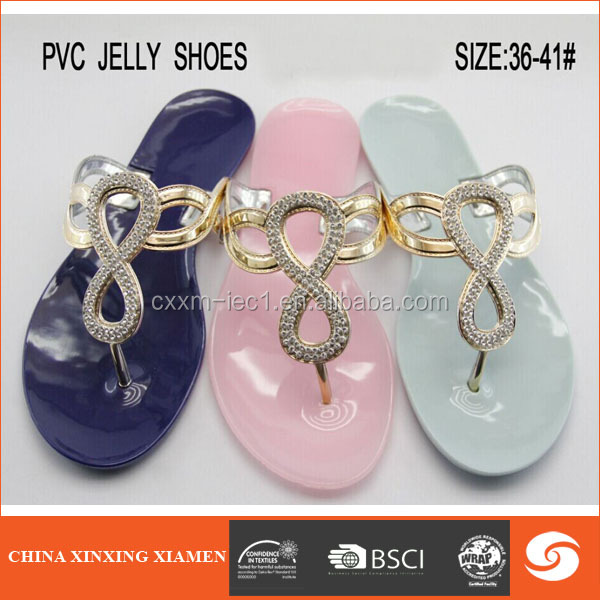 2015 wholesale low price lady pvc sandal