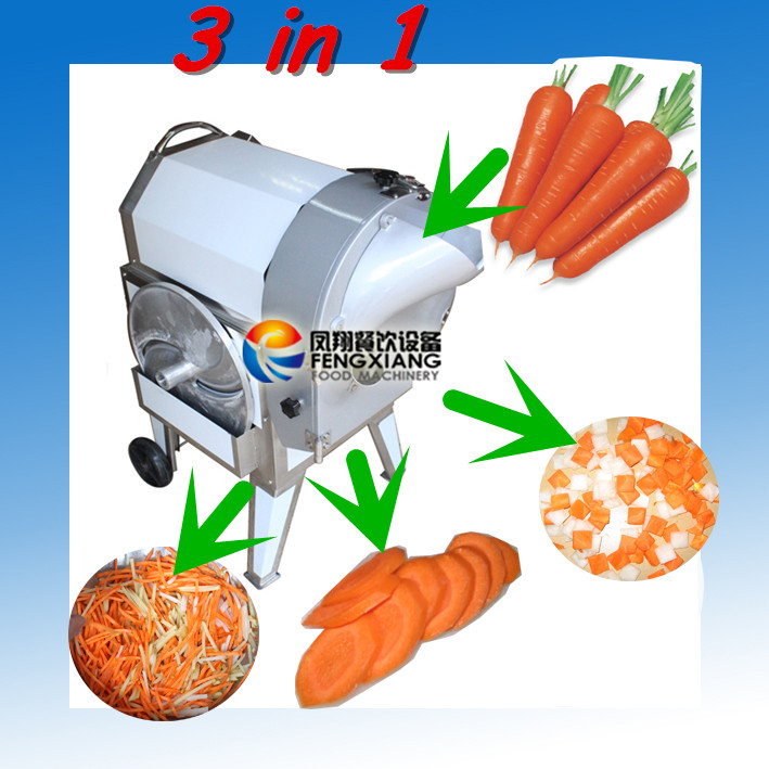 FC-312 Electric Automatic Carrot Shredding Machine (3 in 1) slice, stick, cube.....Nice!
