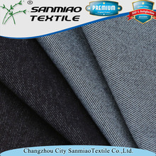 wholesale cotton stretch faded knitted denim twill fabric