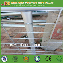 Galvanised steel farm fence gate