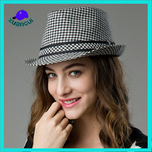 Manufacturer Top Sale Jazz Wholesale Mens Expensive Plaid Grid Fedora Hats for sale