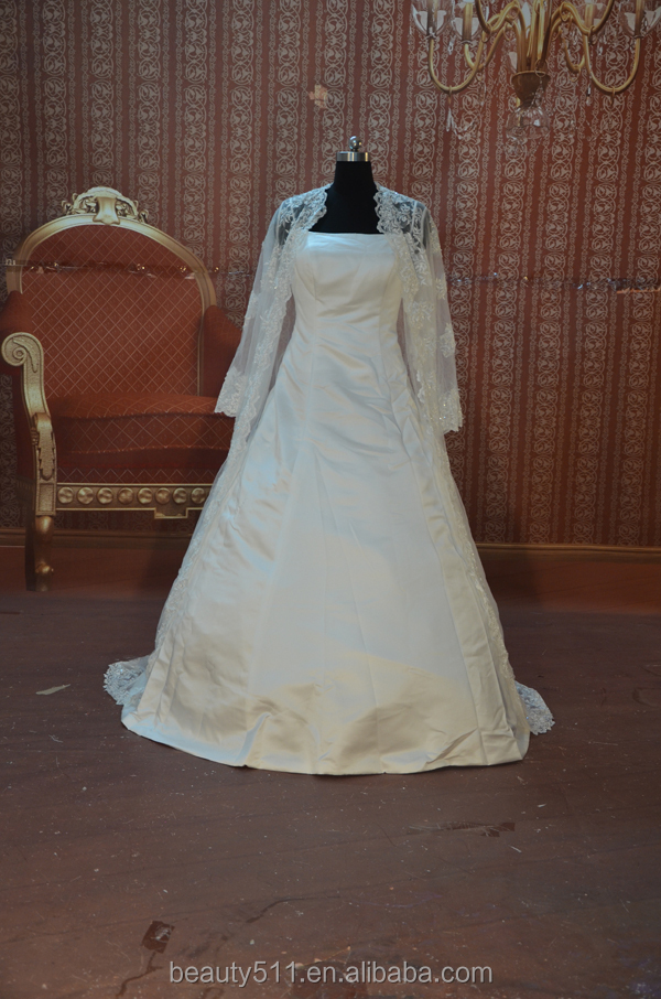 IN STOCK long sleeve wedding dress the Muslim ball gown bridal gown SW06
