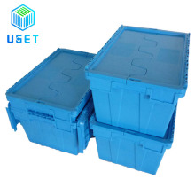 90L Removal Plastic Shipping Turnover Box for Electronic Security Transport Crate with Padlock