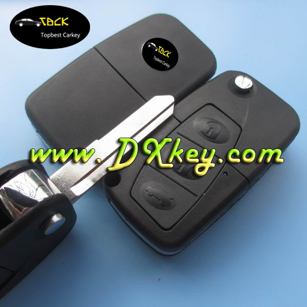 Topbest good quality car plastic flip key covers blank key fobs for mazda 3 key cover