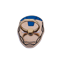 Stylish Iron Man Pattern 360 Rotation Cell Phone Stand Holder Metal Finger Ring Grip Phone Stand Holder For Smartphone