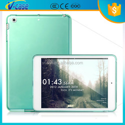 Clear 10 pcs tablet pc + tpu rubber case for ipad mini 2
