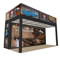 Detian Display offer high quality 10x20 two level stand exhibition booth construction