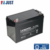 China 12v 90ah ups rechargeable sealed lead acid deep cycle battery