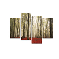 Romantic Forest Photo Canvas Print Nature Green Tree Canvas Wall Art Nature Landscape Giclee Print for Home and Office Decor