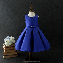 2018 products satin fabric children clothing formal dress patterns for girls
