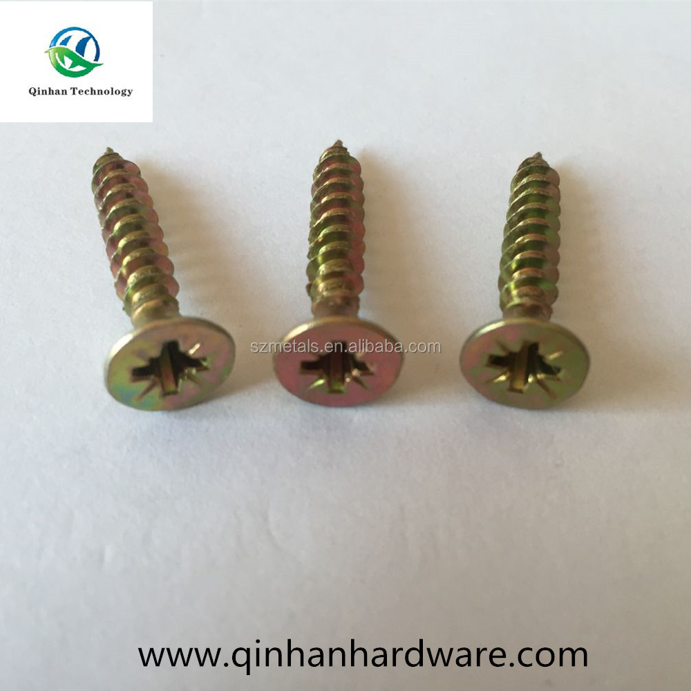 din7505 colour zinc galvanized chipboard self tapping screw