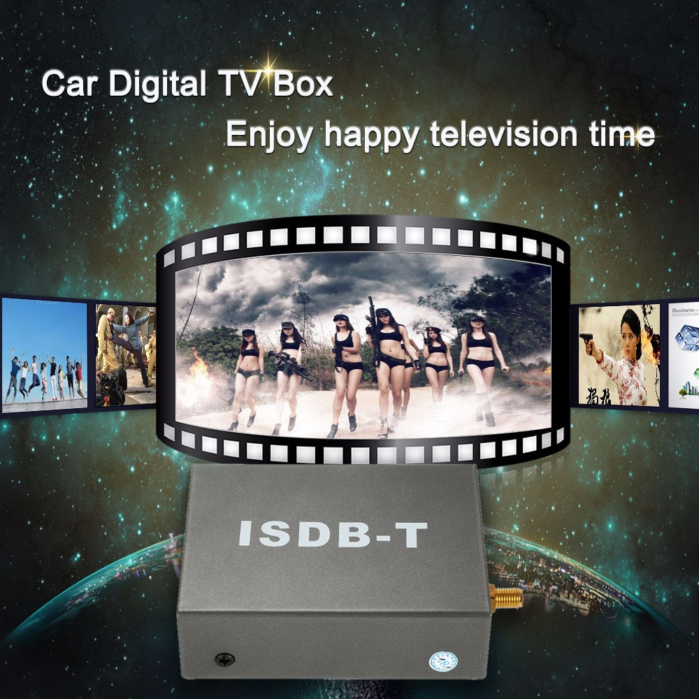 SYTA Car ISDB-T One Seg for Brazil Philippines Japan , Brazil ISDB-T Digital TV Receiver Box, Philippines ISDB-T TV