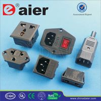 Daier 3-pin plug flush mount socket outlet