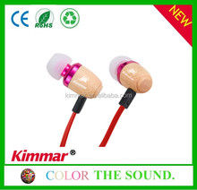 China Wholesale Wooden In-ear Earphones Support fm radio