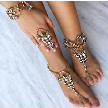 Wholesale Fashion New Design Anklets Jewelry Summer Beach Barefoot Sandals Anklets Bracelet Silver Anklet For Women