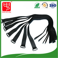 Reusable strong power hook and loop cable tie , baggage strap