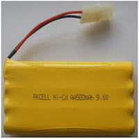 PKCELL Ni-CD 9.6V Rechargeable AA size Battery 500mAh battery pack