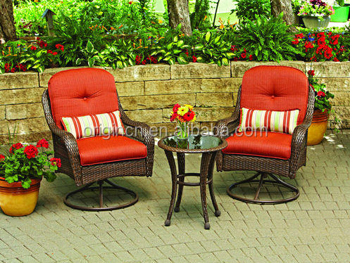 2 seater classic bar furniture with swivel chair curved leg table and grid design rattan stools