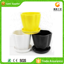Wholesale price Plastic Colored Pedestal Flower Pot