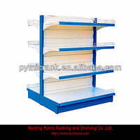 double side supermarket shelving/retail display racking/display racks