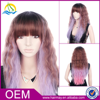High quality bohemian curl wig best long kinky curl synthetic ombre wig for women 2015