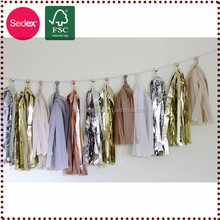 Hanging diy item tissue tassel garland as 2015 chinese new year symbol