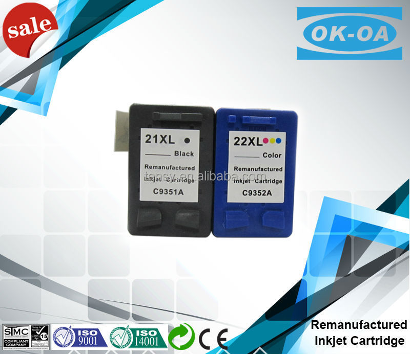 High capacity Recyclable inkjet cartridge for HP21XL