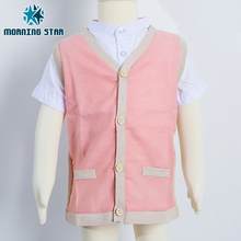 Anti-Shrink spring Vest cotton sweater children clothes clothing sets
