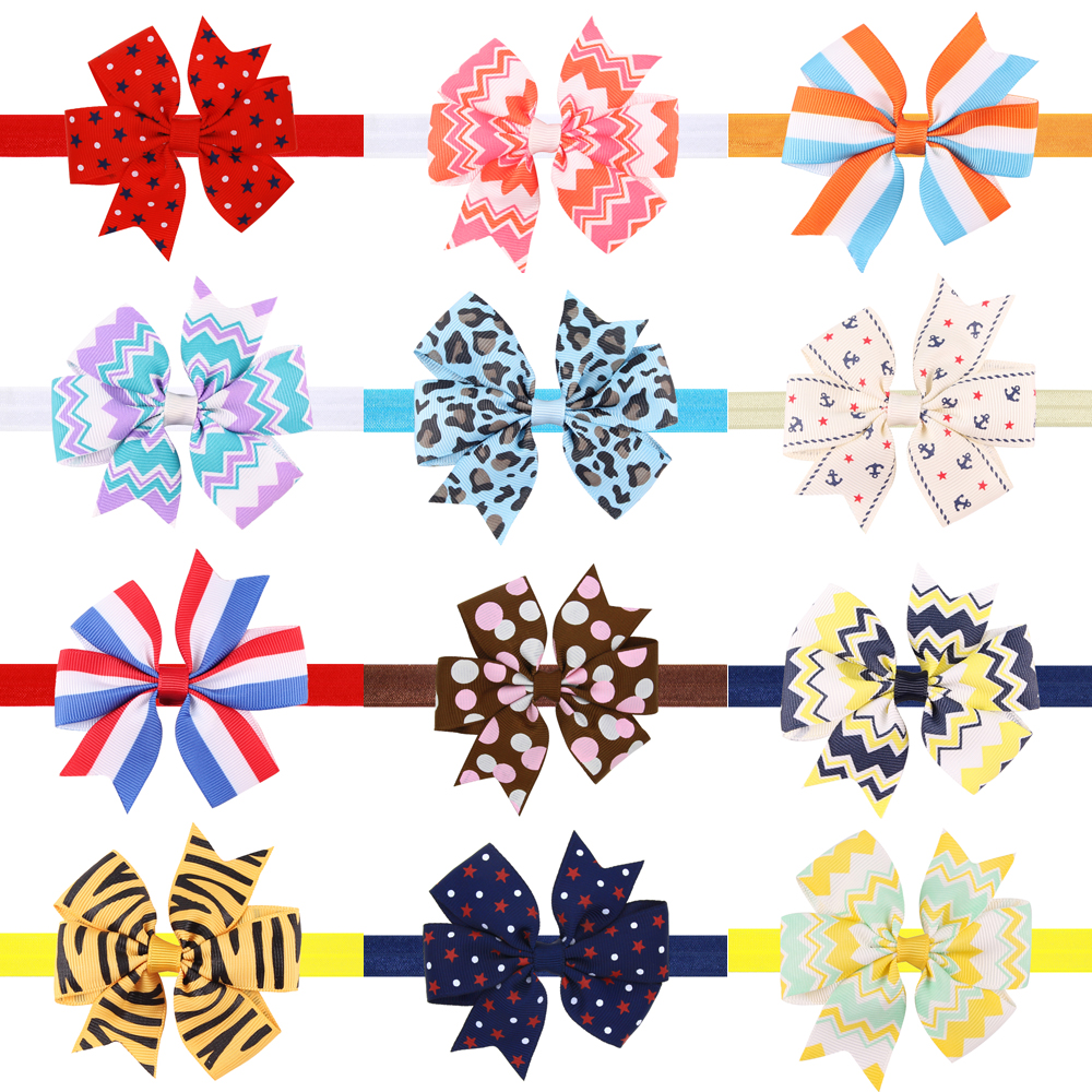 Newborn Baby Hair Bow Baby Ribbon Bow Headband