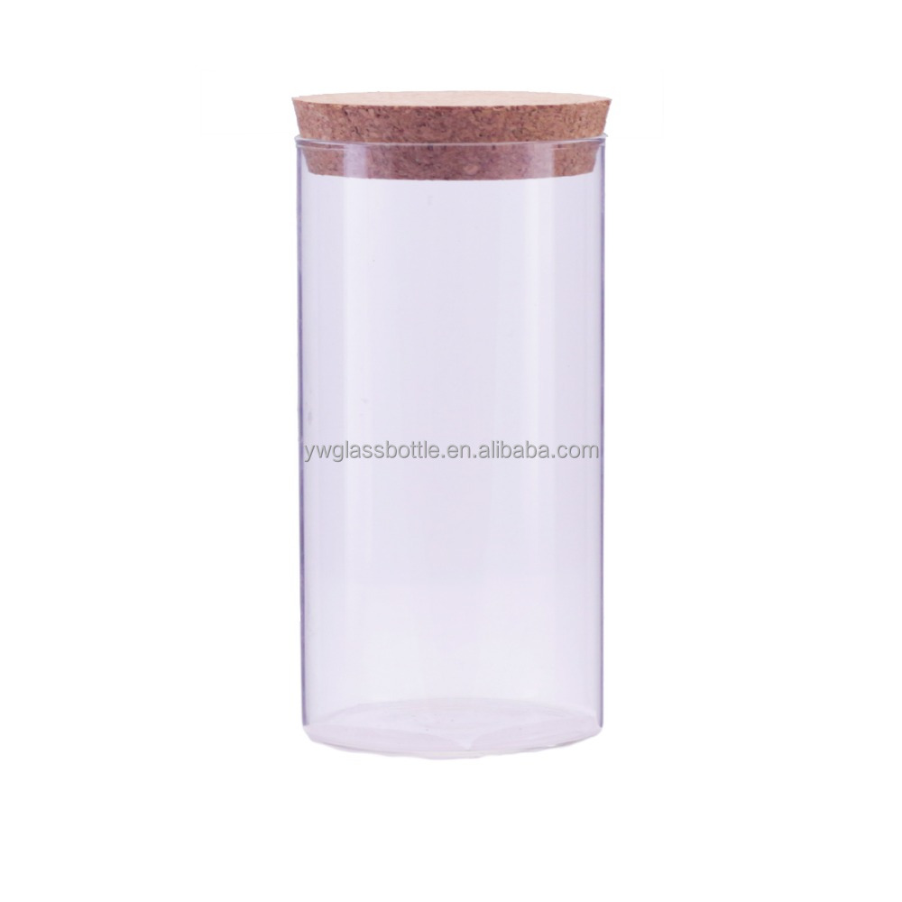 19oz wholesale transparent pyrex glass test tube with cork lid