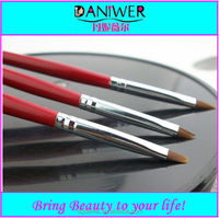 3pcs Red fashion makeup Nail art brush