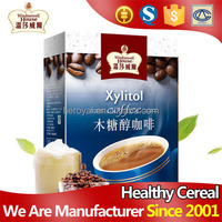 Wholesale sugar free xylitol sachet packing slimming instant coffee