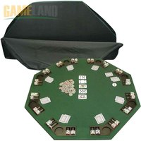 Octagon Wood Poker Table For 8 Players