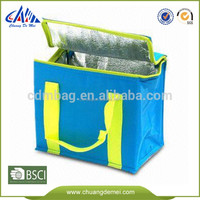 Promotional fashion custom printed and laminated Insulated cooler bag for food and bottles