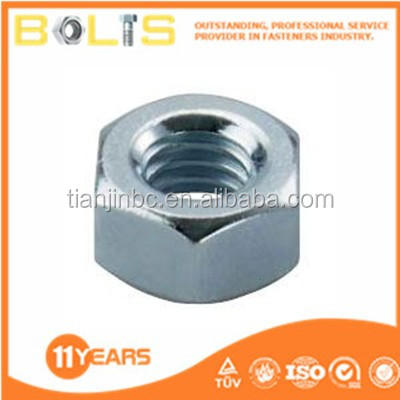 zinc-plated hex nut m5 high quality made in china
