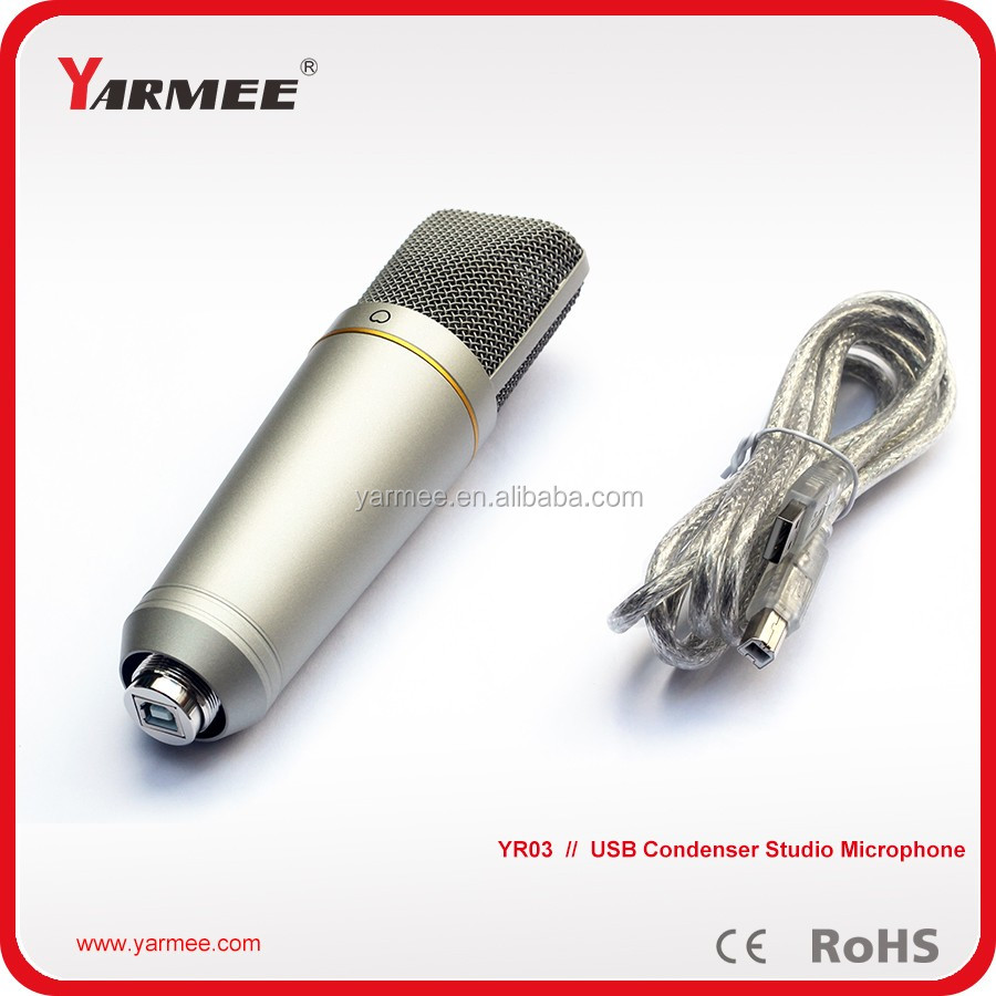 YR03 professional studio USB recording condenser microphone -- YARMEE
