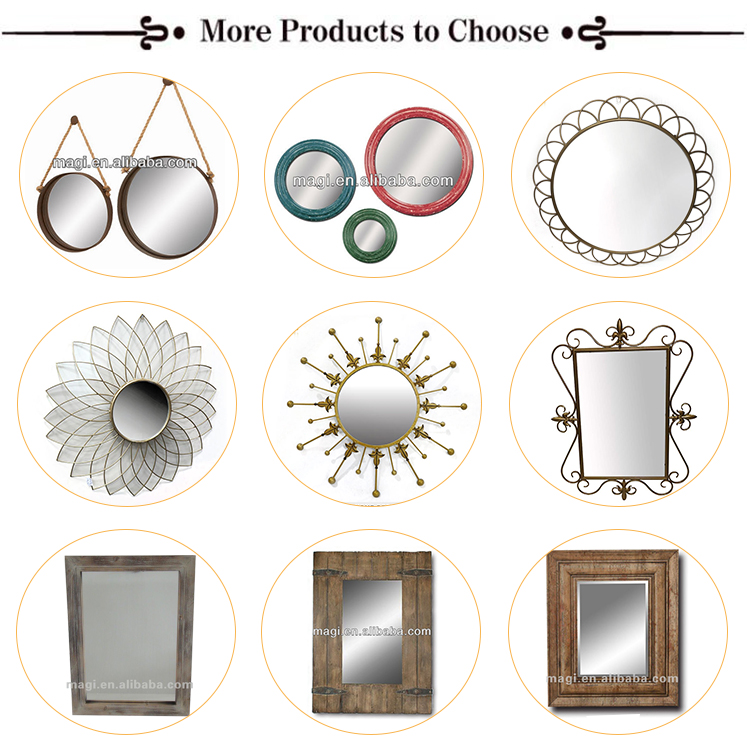 Distressed Rustic Sets Metal Wall MIrror
