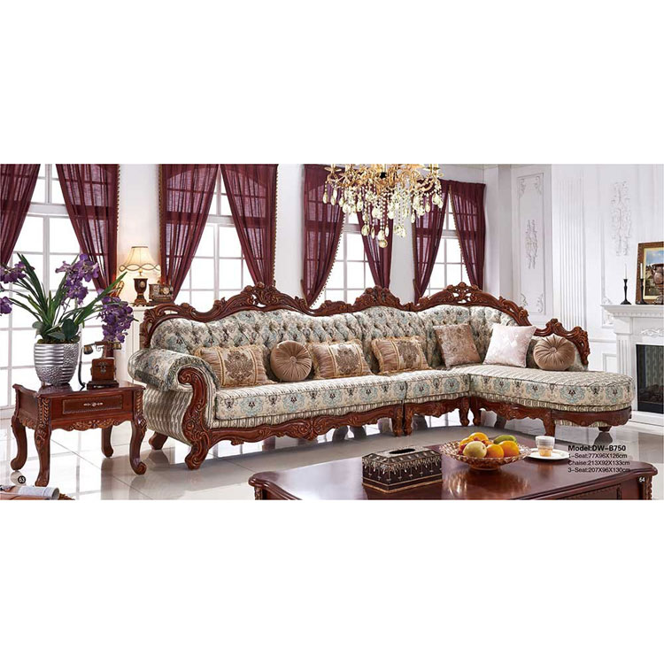 Best Selling Antique Classic Fabric Chaise Lounge /corner Sofa ...