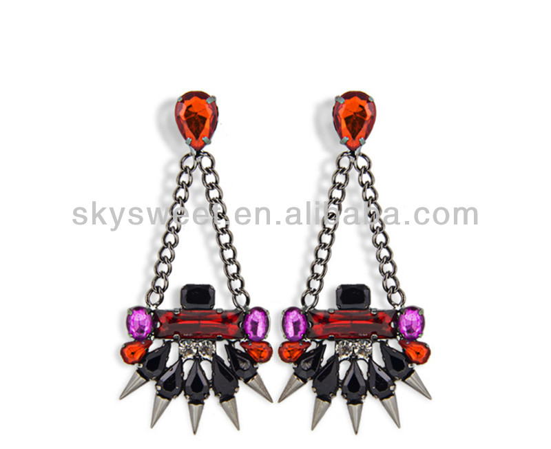 Jewelry Wholesale,Diamante Indian Jewelry, Wholesale Hot Spike Fashion Jewelry (SWTERCXT298-3)