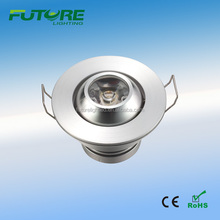 high bright 3 watt recessed led mini downlight