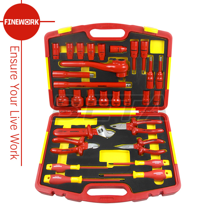 29PCS Insulated Sockets And Pliers Set And Screwdrivers