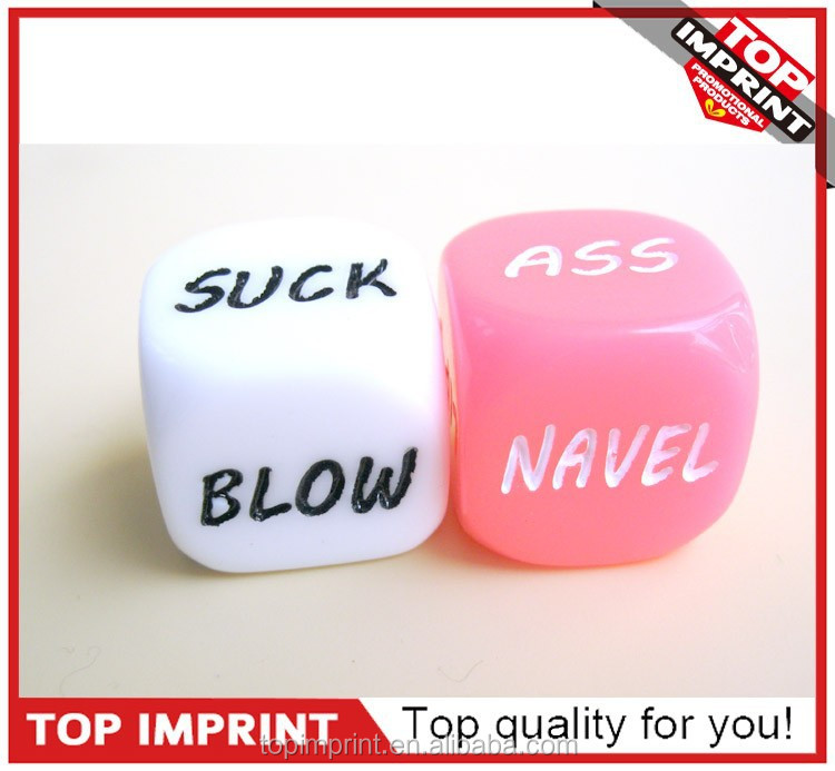 Funny Letter Adult Love Arcylic Game Dice