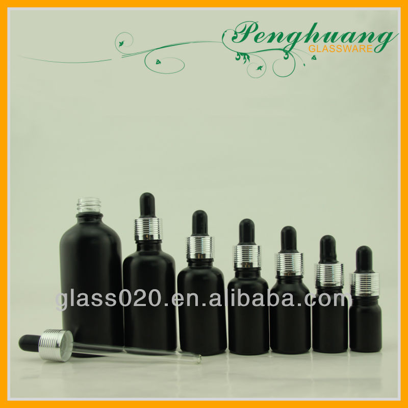 Black essential oil bottle set