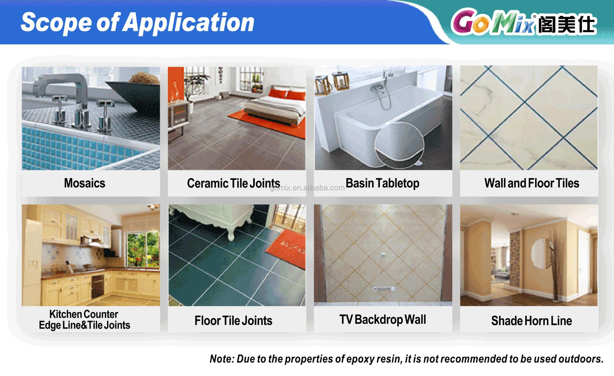 Waterproof High Brightness Epoxy Tile Sealant For Wall And Floor