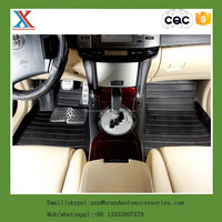 pvc universal fit 4 pcs 5d car floor mat