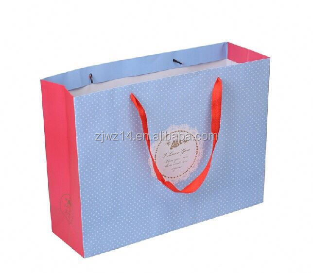 red paper gift bags with handle/ burlap gift bags/ paper gift handbag