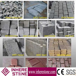 Low price flamed brushed granite paving