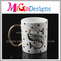 New Design Letter Ceramic Coffee Mugs with Handle