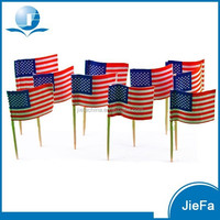 Wholesale Low Price High Quality American Flag Toothpick With Flag Decorative Flag Picks