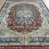 qum oriental silk rug large size 10x14ft villa hand-made persian carpets
